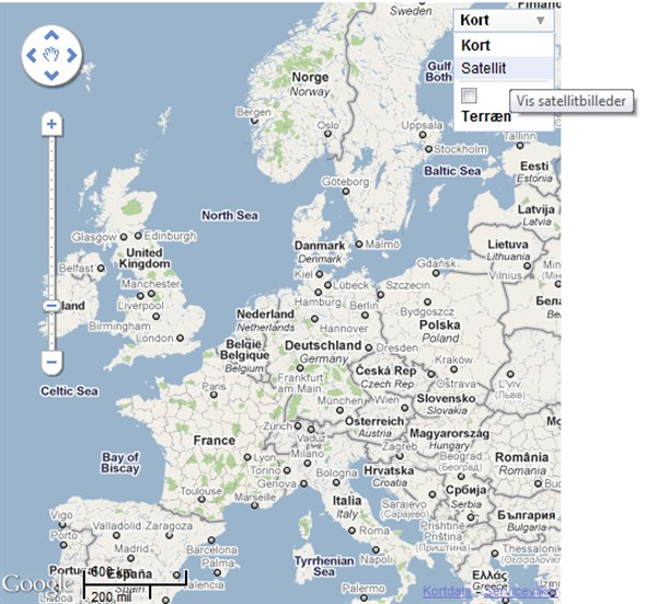 Europemap screen